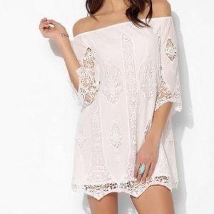 💃🏼Boho off shoulder lace mini dress